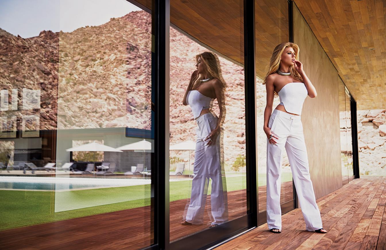 Venice Magazine- Summer 2015 Issue - Charlotte Mckinney - Nila Do Simon-  John Russo -Styling - Nicolas Bru- Asos Karma- El Khalil