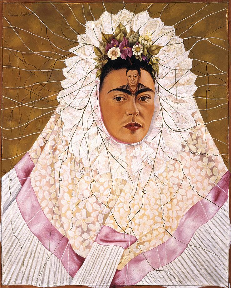 Frida Kahlo, Diego on My Mind (Self Portrait as Tehuana), 1943