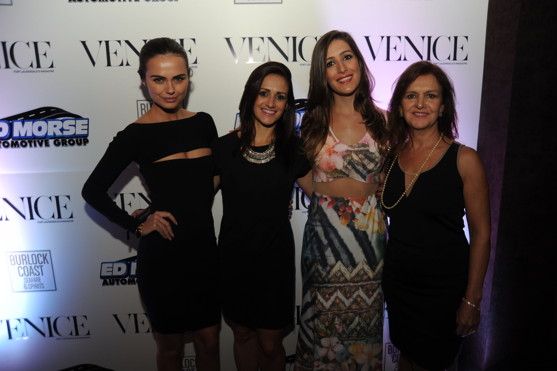 Xenia-Deli-Venice-Magazine-cover-party-burlock-coast-Xenia-Deli-Eliza-Barros-Isabel-Barros-Edna-Barros