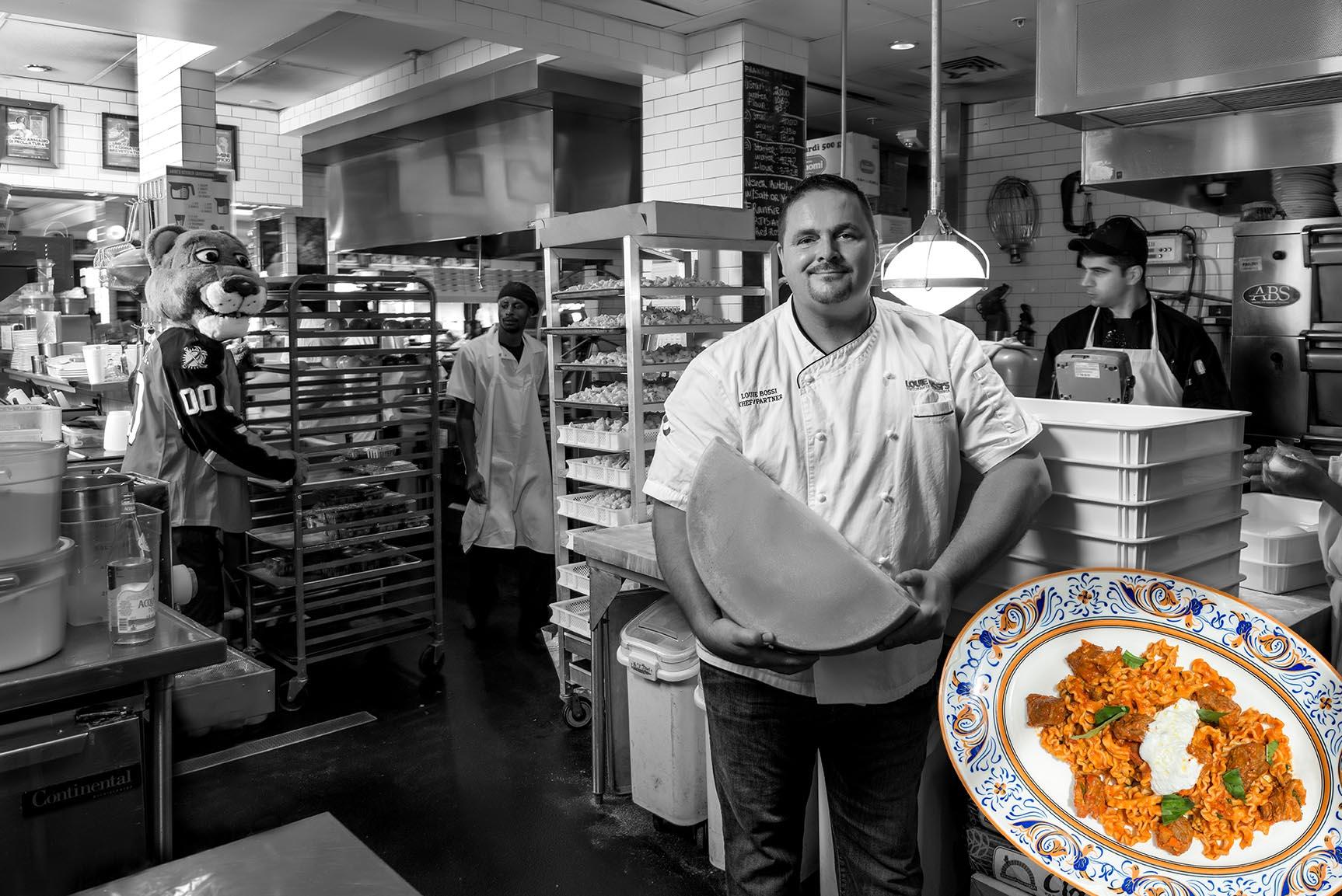 Venice-magazine-summer-issue-florida-panthers-guest-chef-program-on-the-prowl-Nan-Kavanaugh-Felipe-Cuevas- Richard-Adler-Anthony-Casacci-Nicole-Votano-Aaron-Michaels-Chef-Louie-Bossi- Chef-Laurent-Tasic