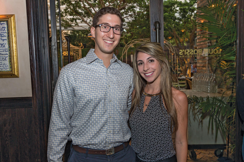 Adam Aldahan and Samantha Abel at Louie Bossi's Ristorante