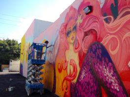 The-Future-is-Female-tati-suarez-jill-weisberg-The-Power-of-Pink-mural-artist-art-South-Florida-Hollywood