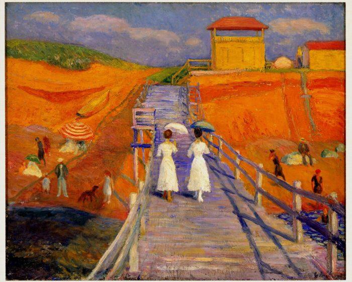 William-J-Glackens-Cape-Cod-Pier-Oil-NSU-Art-Museum-Nina-Tsiotsias