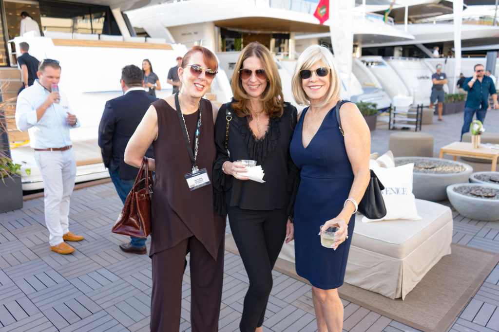 Gail-feldman-BJ-Martinez-Prillaman-Sandra-Tagliamonte-Venice-magazine-peroni-fort-lauderdale-international-boat-show-2017-sanlorenzo-yachts