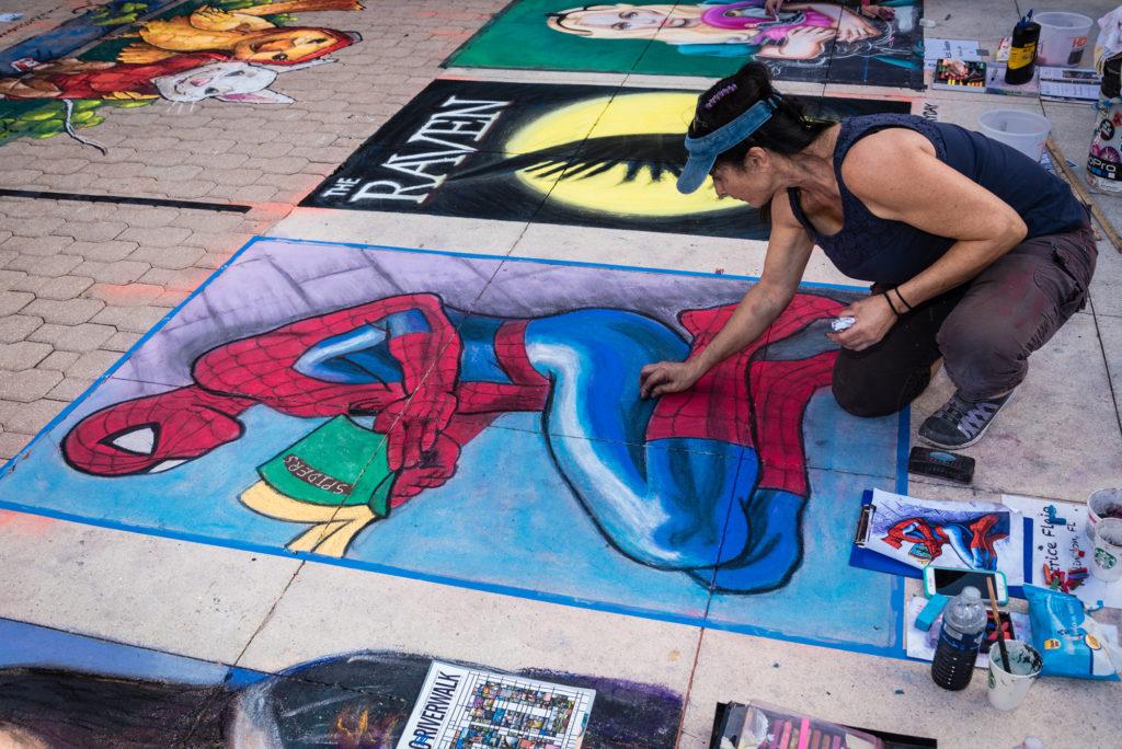 carrie-bennett-chalk-lit-art-street-artist-spiderman-nila-do-simon-scott-mcintyre-venice-magazine-fort-lauderdale