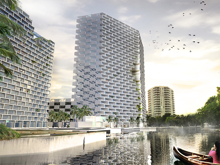Water World The Danish architecture firm, Bjarke Ingels Group (aka BIG), has created an awe-inspiring design for Marina Lofts, celebrating Fort Lauderdale's water culture.