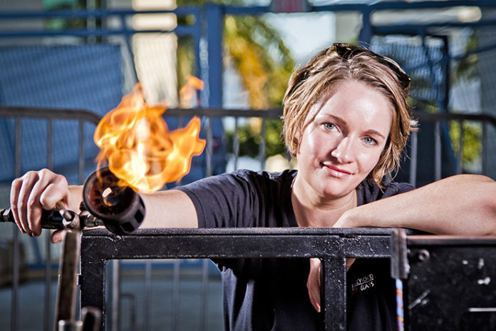 Venice-Magazine-Spring-2015-Brenna-Baker-by-Wade-Sheridan-Photo-by-Eduardo-Schneider-Hot-Art-Glass-Art-Glassblowing
