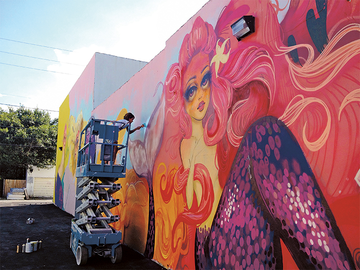 Color Me Rad Started In 2017 The Downtown Hollywood Mural Project Brings Artists From Around