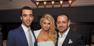 Venice-Magazine-Fall-2015-Issue-Charlotte-McKinney-Teddy-Shriver-and-Leonid-Khanki-Lobster-Bar-Sea-Grille