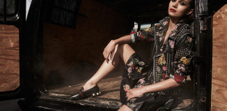 Venice-Magazine-Summer-Edition-Gucci-Hand-Painted-Flower-Leather-Jacket-Skirt-Loafers