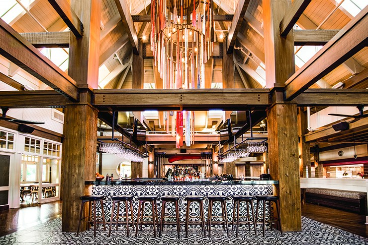 HIGH MARKS: Marker Construction Group recently completed a full interior and exterior renewal of Boatyard restaurant, formerly Bimini Boatyard.