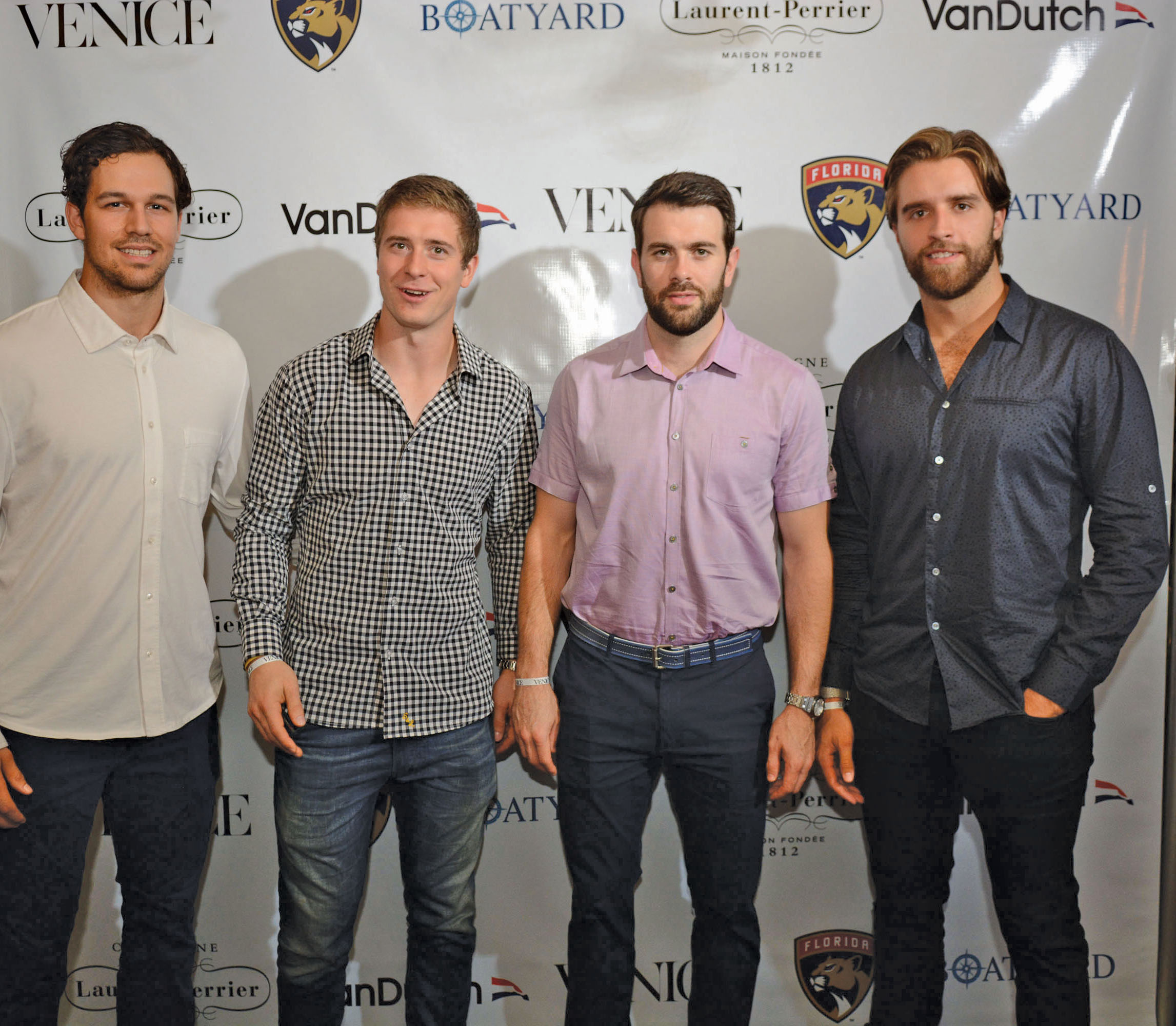 alex-petrovic-mark-pysyk-keith-yandle-aaron-ekblad-City-Cool-Boat-Yard-Fort-Lauderdale-Venice-Magazine