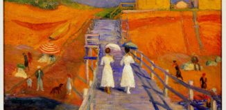 William-J-Glackens-Cape-Cod-Pier-Oil-NSU-Art-Museum-Nina-Tsiotsias