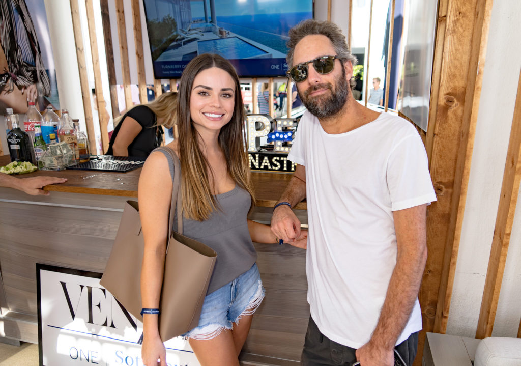 Allie-lasorte-seth-browarnik-Venice-magazine-peroni-fort-lauderdale-international-boat-show-2017-sanlorenzo-yachts-lounge-one-sothebys-mionetto