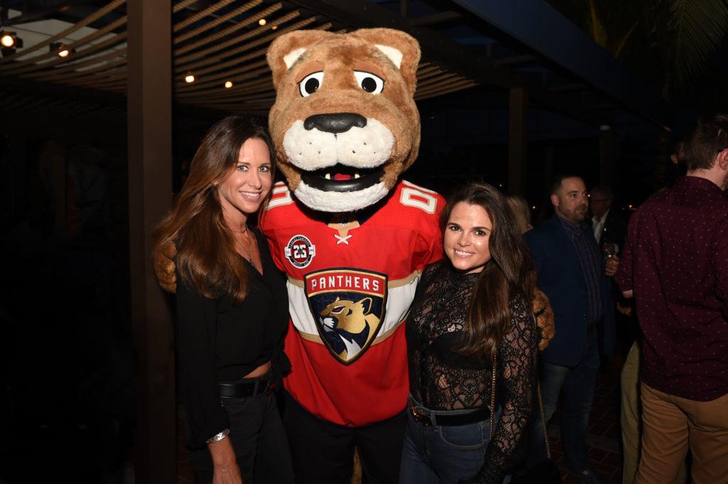 Susan Penrod, Florida Panthers Mascot, & Erin Clampett