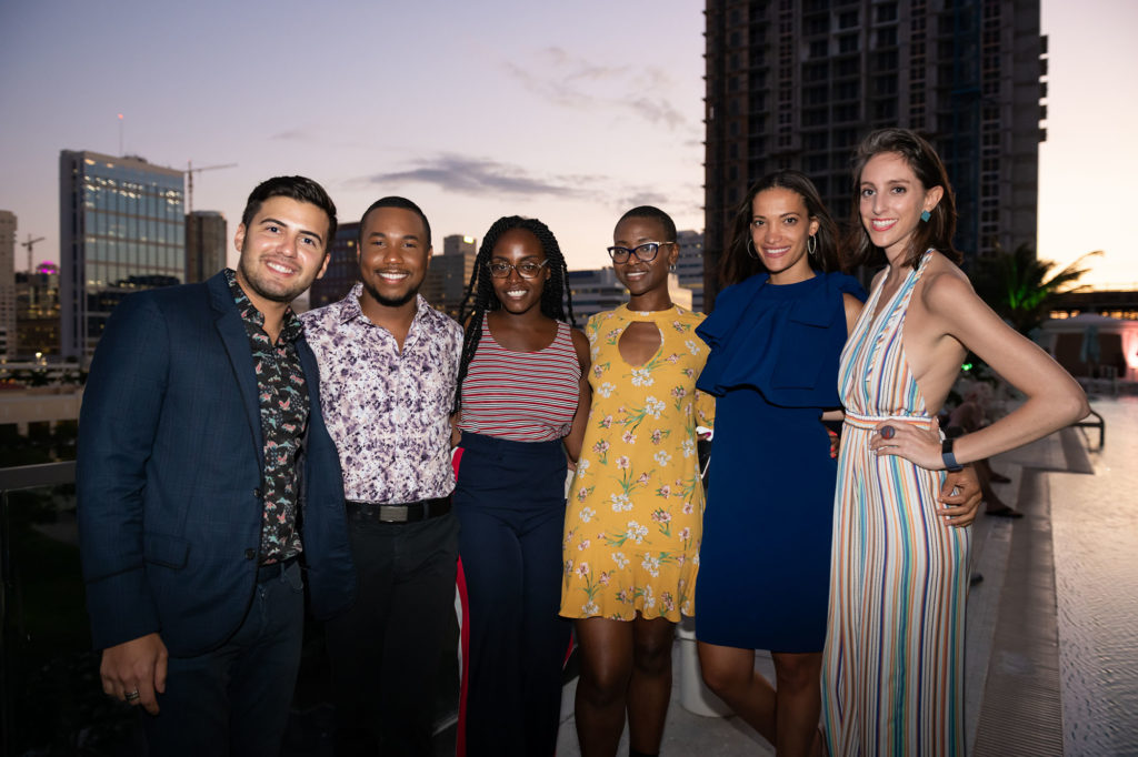 Jimmy-Diaz-Michael-McKenzie-Tayina-Deravile-Karen-Hurst-Megan-Probst-Meredith-Clements-one-east-society-nsu-art-museum-fort-lauderdale-dalmar