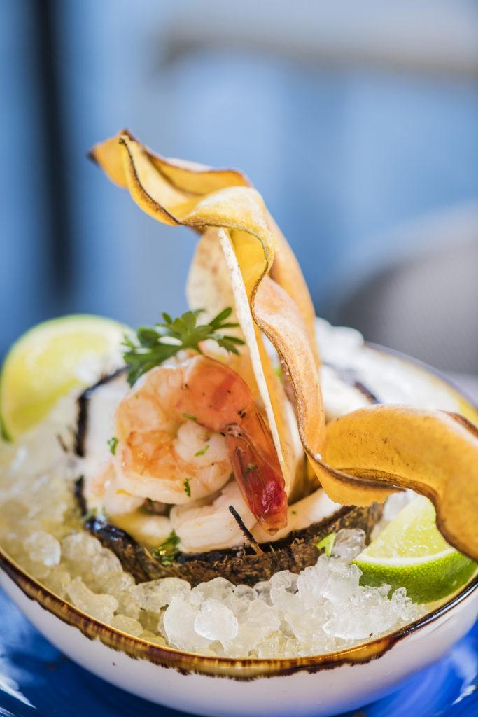 Chef-Kevin-Baker-Shrimp-Dish-Sonesta-Fort-Lauderdale-Beach-Steelpan-Restaurant-Alona-Abbady-Martinez-Felipe-Cuevas