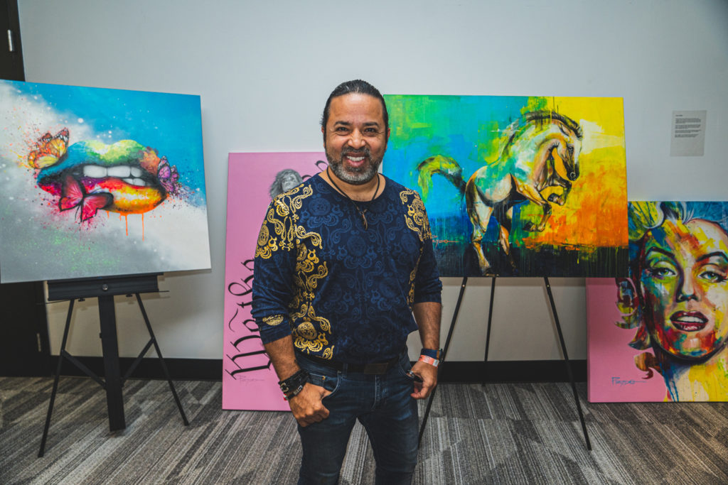 hector-prado-fine-Art-florida-panthers-sip-n-stroll-art-walk